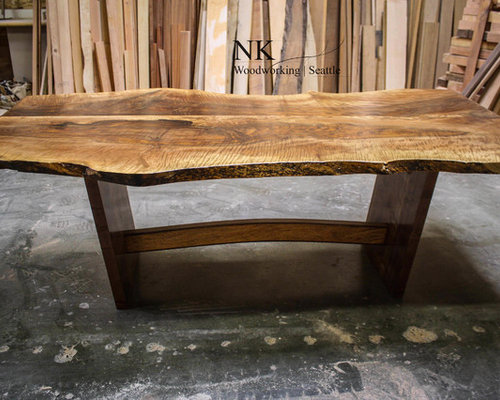 Torches  - English Walnut and Mango Dining Table - Dining Tables