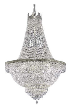 French Empire Crystal Chandelier Silver More Info