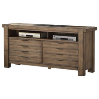 """Parker House Brighton 63"""" TV Console in Muslin"""
