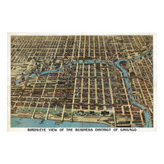 "Chicago, 1898 Wall Map Mural, Peel and Stick 3-Panel, 125""x83"""