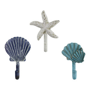 *3 Pack* Oil Rubbed Bronze Decorative Rustic Starfish Cabinet Hooks