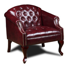 Boss Office Products Tufted Club Chair, Red