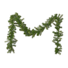 9' Mixed Spruce Pre-Lit Clear LED Artificial Christmas Garland, Green