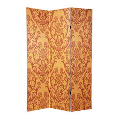 6' Tall Double Sided Damask Room Divider