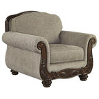 Roma Gray Velvet Chair Traditional Armchairs And
