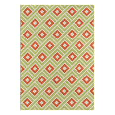 "Baja Indoor/Outdoor Rug, Green, 6'7""x9'6"""