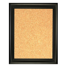 """Framed Cork Board 24""""x36"""", With Black Finish Frame With Triple Step Lip"""