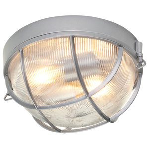 2-Light Flush Mount, Hematite