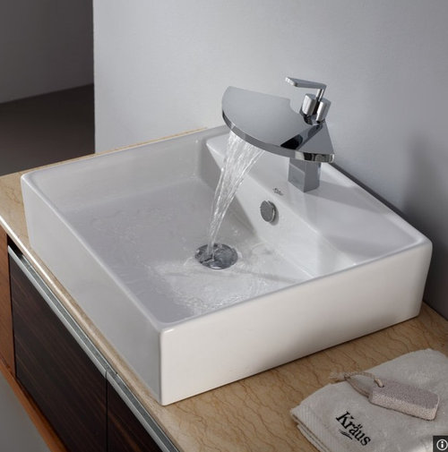 Incroyable But I Love The Modern Looking Overmount Sinks I See Everywhere Now. If You  Have One Of These Sinks, How Do Clean Behind Them? Does Toothpaste, Soap,  Water, ...