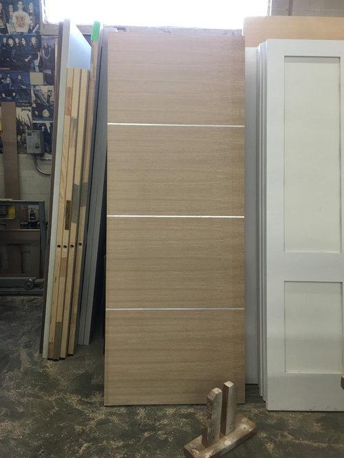 Interior Doors  Walnut Flush W/Metal Inlay Steel / Aluminum + Pivot Custom