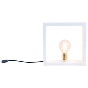 Nuuk Spruce Wood Table Lamp, Globe Bulb, White