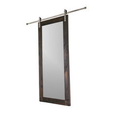 Modern Mirror Barn Door