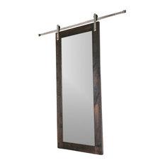Artisan Hardware   Modern Mirror Barn Door, 7u0027x3u0027   Interior Doors