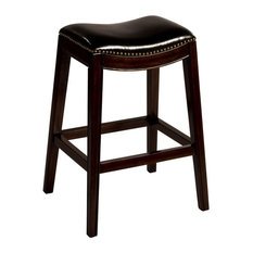 Sorella Non-Swivel Backless Counter Stool Full KD Construction Espresso