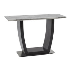 Luciana Marble Console Table, Grey and Black