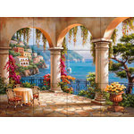 "The Tile Mural Store (USA) - Tile Mural, Terrace Arch Ii by Sung Kim - *12 Tile Mural on 6"" ceramic satin finish tiles.  AMERICAN MADE !!"