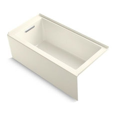 "Kohler Underscore 60""x30"" Alcove Bath With Left-Hand Drain, Biscuit"