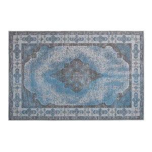 Retro Vintage Chenille Rug, Azur Blue 2, 160x240 cm