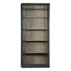 Dovetail Furniture - Whitman Black Paint Reclaimed Pine Bookcase - Bookcases