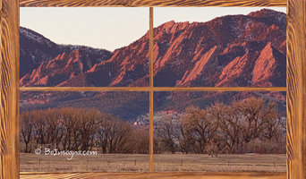 Boulder Flatirons Morning Barn Wood Picture Window Frame View  Acrylic Print