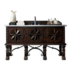 "Balmoral 60"" Antique Walnut Single Vanity"