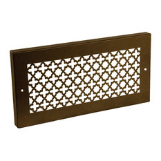"""Steel Crest Victorian Oil Rubbed Bronze Baseboard Grille, 14""""x6"""""""