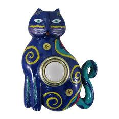 Painted Cat Doorbell