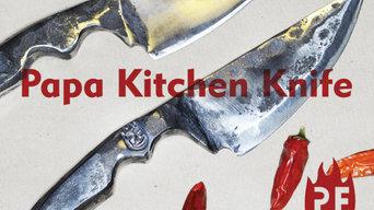 Papa hand forged kitchen knife