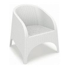 Aruba Resin Wickerlook Chair, White, Set of 2