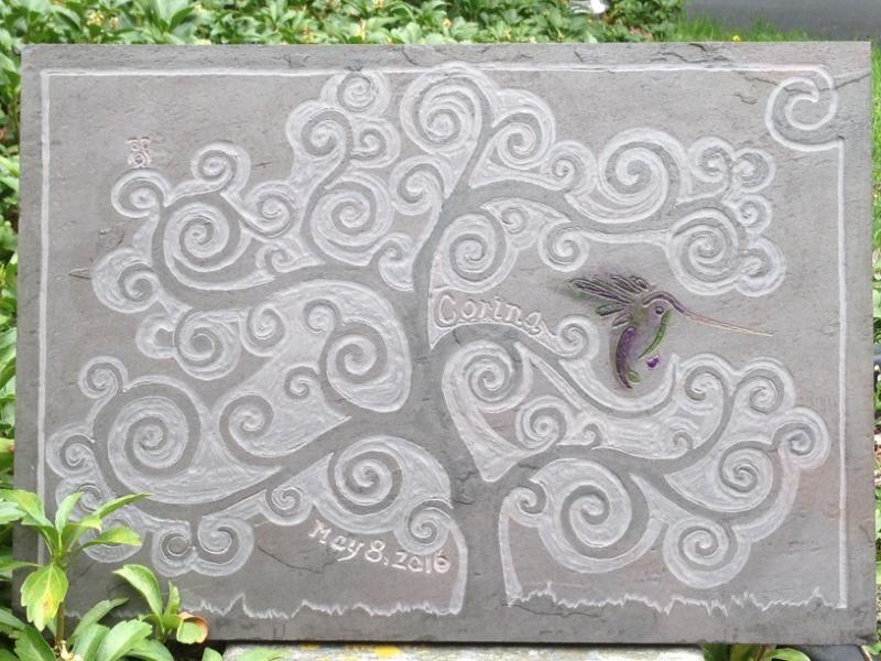 Memorial stone- Art in the garden