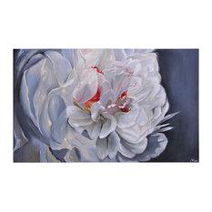 """Ren Wil OL736 Floral Elegance  36""""W by 60""""H Canvas Wall Décor - Grey"""