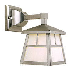 "Vaxel Lighting OW14663ST Mission 6"" Outdoor Wall Light, Stainless Steel"