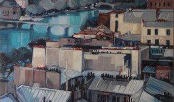 LES GRIS DE PARIS 414 Huile sur toile 100*100
