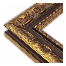 the frame guys wide milan gold with ornate lip picture frame solid wood