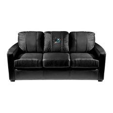 San Jose Sharks NHL Silver Sofa