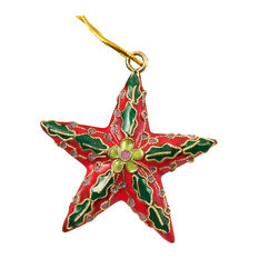 Cloisonne Red Star Ornament