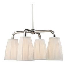 Hudson Valley Lighting 6064-Pn Malden Down Light Chandelier, Polished Nickel