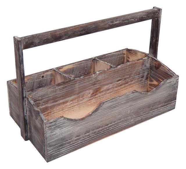 4 Slot Wooden Garden Caddy