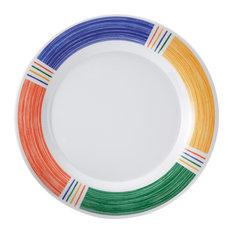 G E T Enterprises Inc - 6.5\  Wide Rim Plate Set of 4 Diamond Barcelona  sc 1 st  Houzz & Trendy Melamine Dinnerware Sets for 2018   Houzz