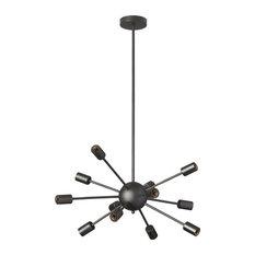 Satellite 12-Light Chandelier, Matte Black