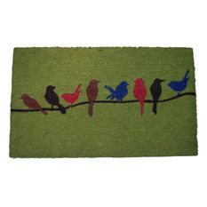 Colorful Birds Doormat