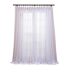 """MOD - Bianco Double Wide Sheer SIngle Curtain Panel, 100""""x108"""" - Curtains"""