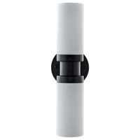 Buckley Sconce, Matte Black With Matte Frosted Glass