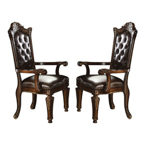 Chateau De Ville Side Chairs Set Of 2 Black And Cherry