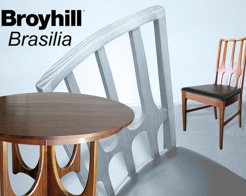 Mid Century Modern Broyhill Brasilia Dining Set