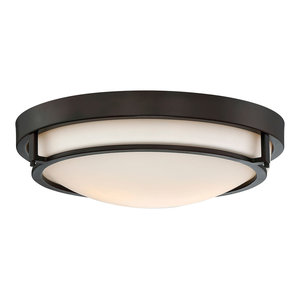 2-Light Flush Mount, Oil Rubbed Bronze