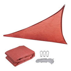 16.5' Uv Proof Triangle Sun Shade Sail Cover, Red