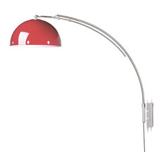 Red Swing Arm Wall Lamp