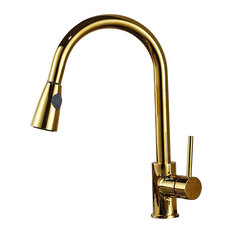 Fontana Showers   Manaus Deck Mounted Gold Finish Kitchen Sink Faucet   Kitchen  Faucets Part 62