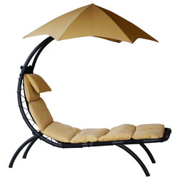Contemporary Outdoor Chaise Lounges by Vivere Ltd